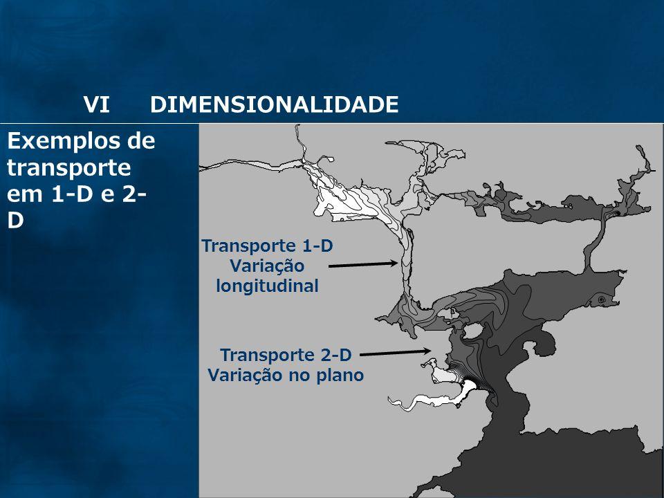 64 Transporte 1-D Variação longitudinal Transporte 2-D Variação no plano Exemplos de transporte em 1-D e 2- D VIDIMENSIONALIDADE