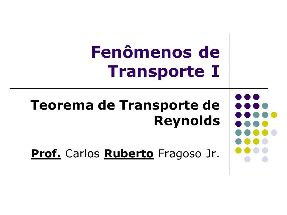 Fenômenos de Transporte I Teorema de Transporte de Reynolds Prof. Carlos Ruberto Fragoso Jr.