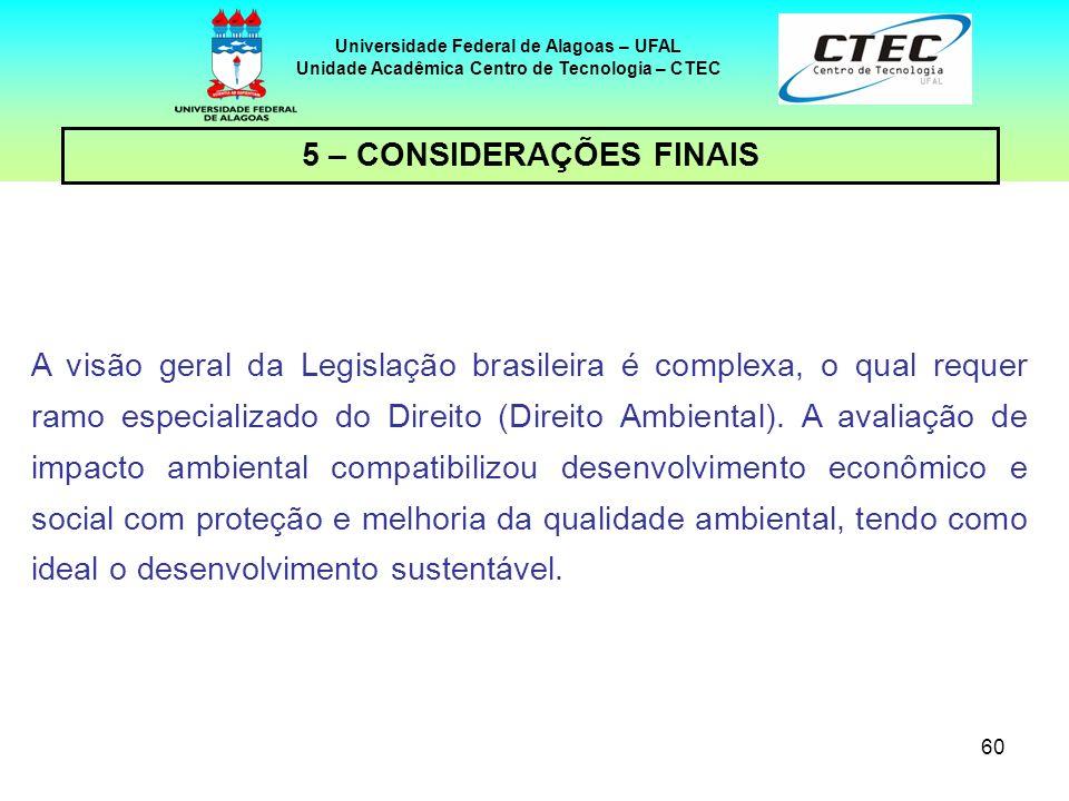 59 Universidade Federal de Alagoas – UFAL Unidade Acadêmica Centro de Tecnologia – CTEC IMPORTANTE!!!!! – cont. MANDADO DE SEGURANÇA: regulamentado pe