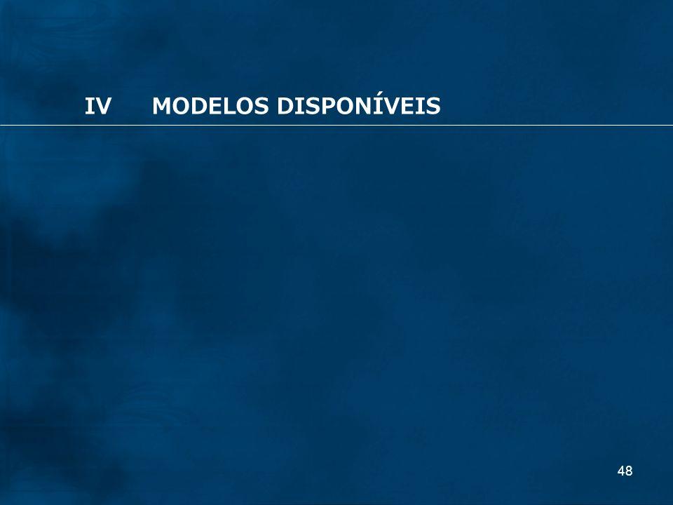 48 IVMODELOS DISPONÍVEIS