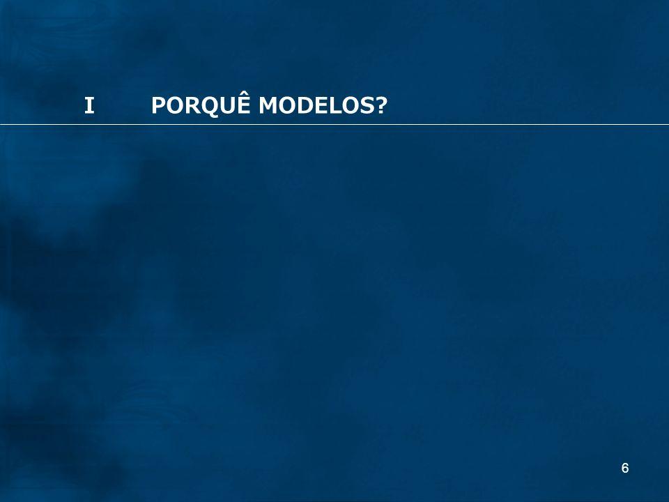 6 IPORQUÊ MODELOS?