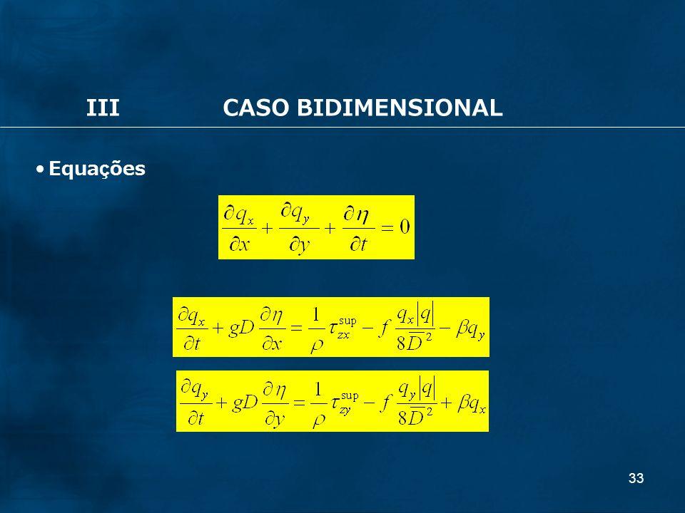 33 IIICASO BIDIMENSIONAL Equações