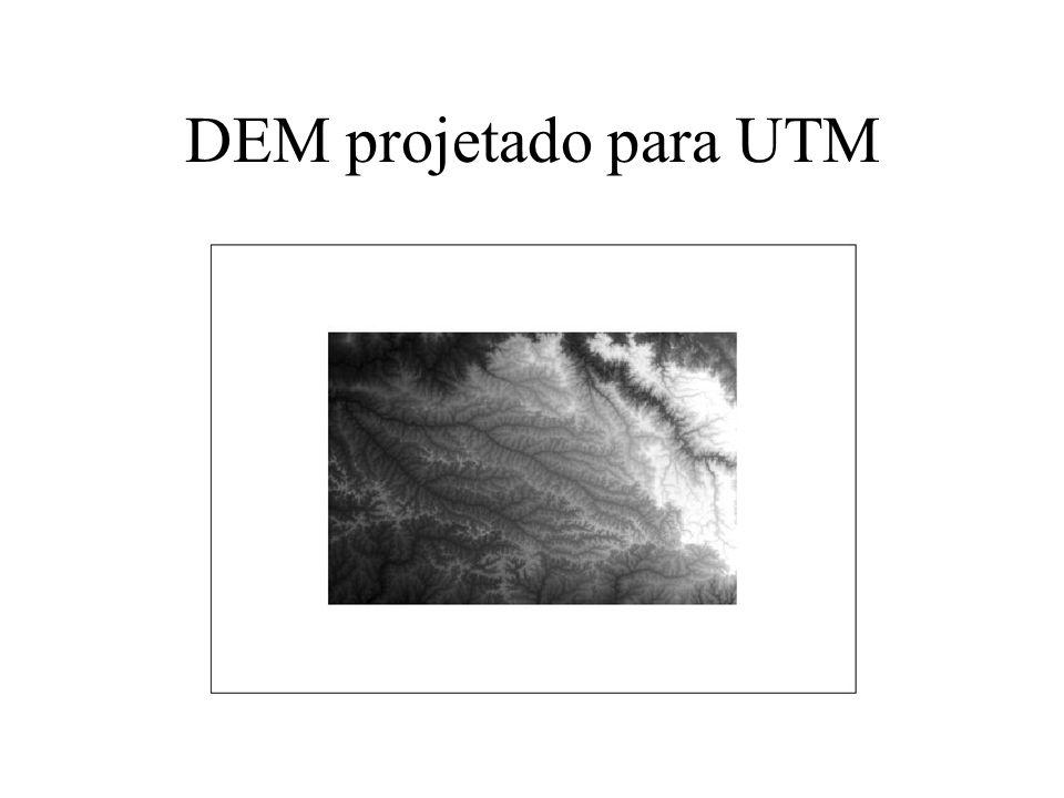 DEM projetado para UTM