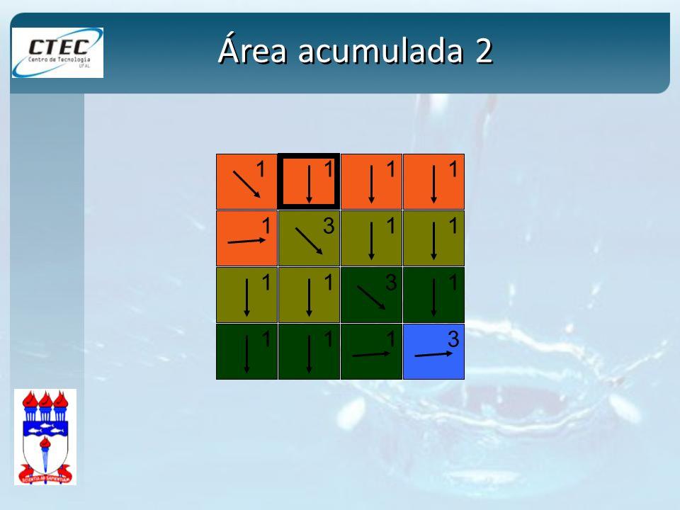 1 1 11 1 3 1113 3 1 111 1 Área acumulada 2