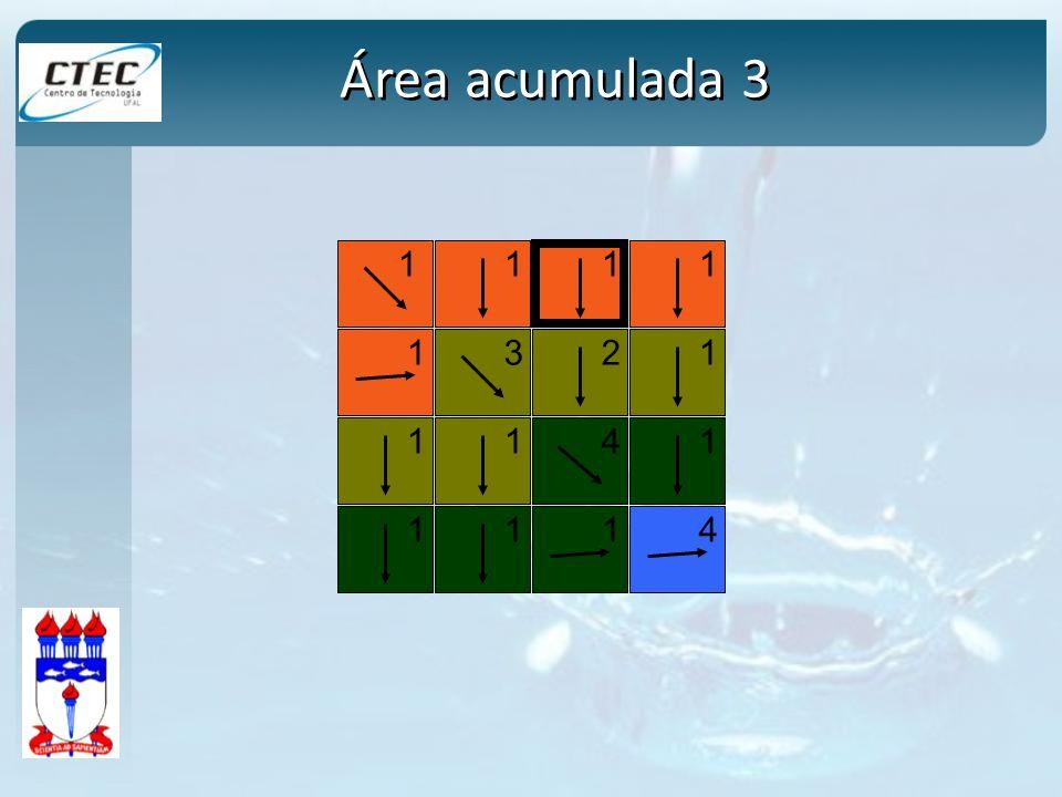 1 1 12 1 3 1114 4 1 111 1 Área acumulada 3