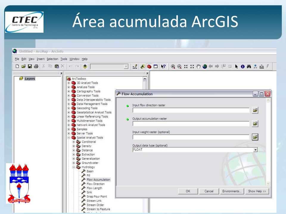 Área acumulada ArcGIS