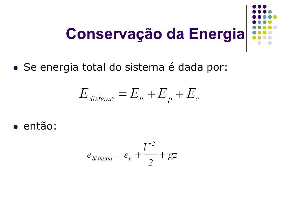 Conservação da Energia Se energia total do sistema é dada por: então: