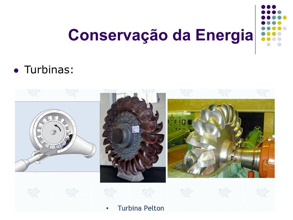 Conservação da Energia Turbinas: