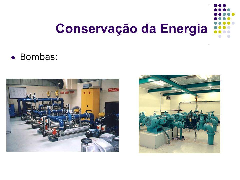 Conservação da Energia Bombas: