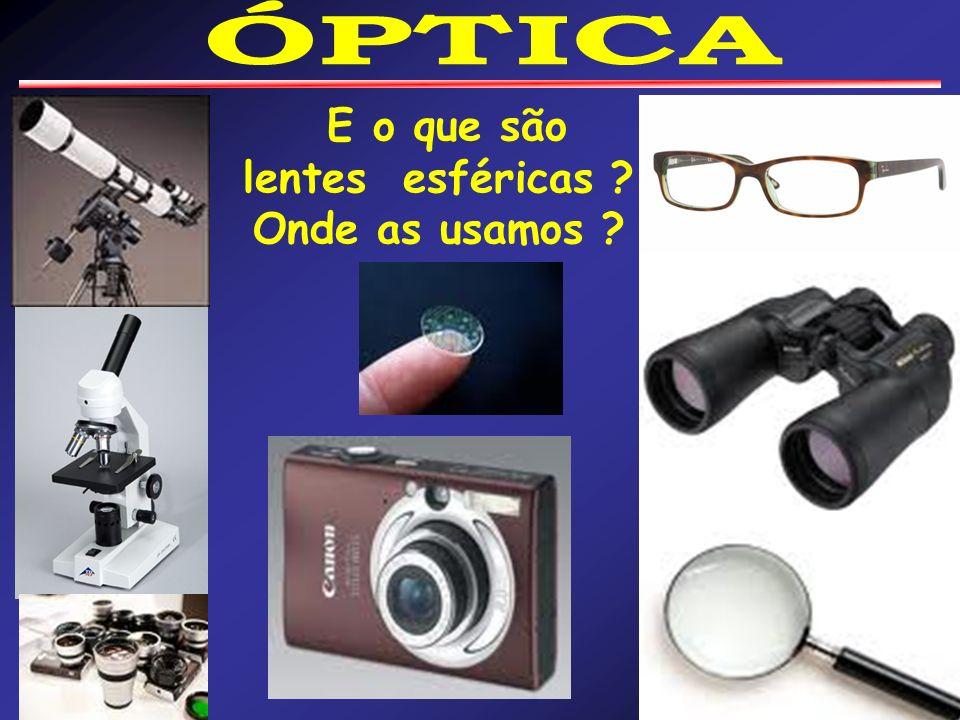 E o que são lentes esféricas ? Onde as usamos ?