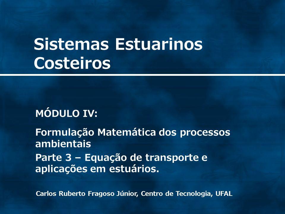 32 Simplificações da Equação de transporte - Escoamento não permanente e unidimensional, desprezando os efeitos difusivos x x CC t = Tt = 0 VO CASO UNIDIMENSIONAL