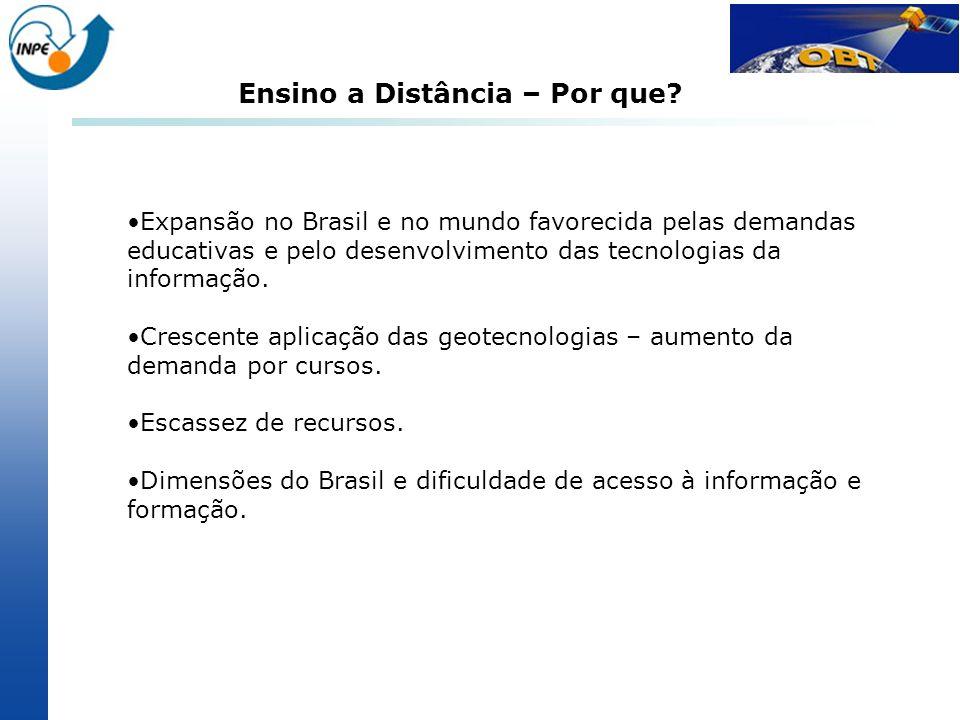 Expansão no Brasil e no mundo favorecida pelas demandas educativas e pelo desenvolvimento das tecnologias da informação. Crescente aplicação das geote