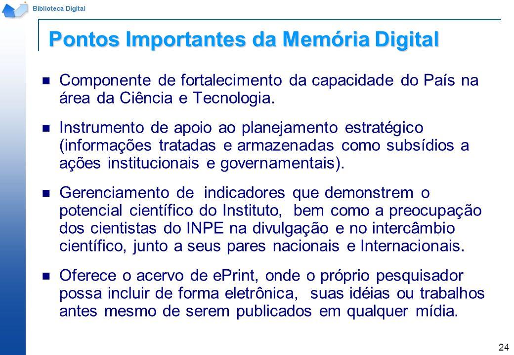 24 Componente de fortalecimento da capacidade do País na área da Ciência e Tecnologia. Instrumento de apoio ao planejamento estratégico (informações t