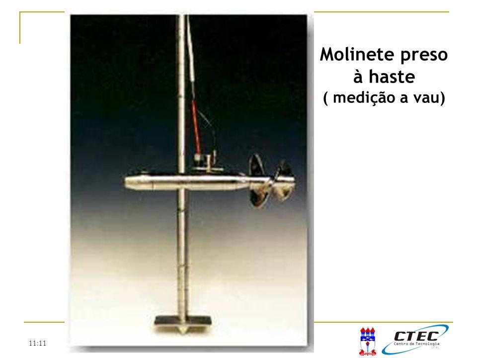 11:11 Molinete preso à haste ( medição a vau)
