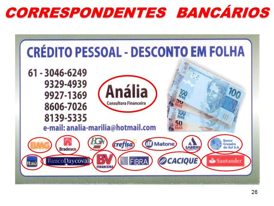 CORRESPONDENTES BANCÁRIOS 26