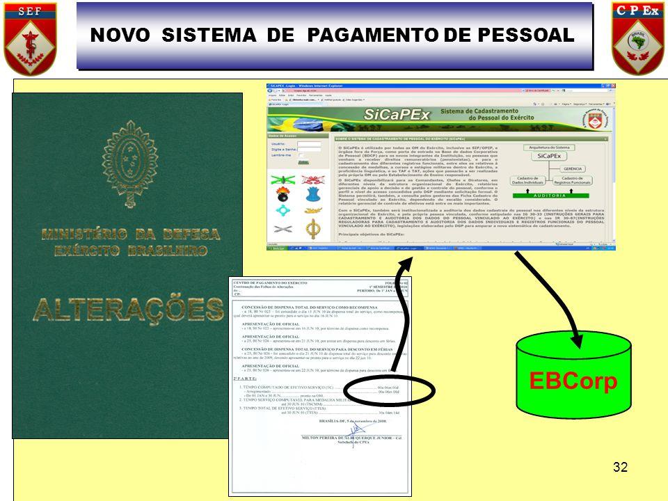 NOVO SISTEMA DE PAGAMENTO DE PESSOAL 32
