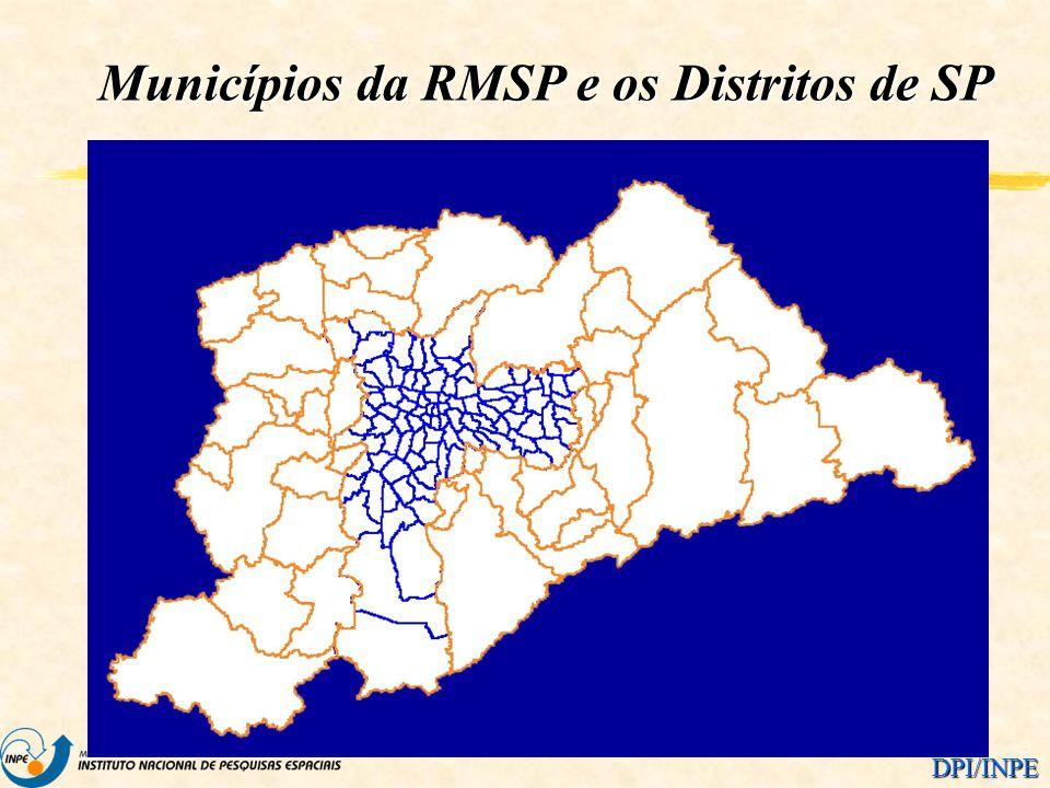 DPI/INPE Municípios da RMSP e os Distritos de SP