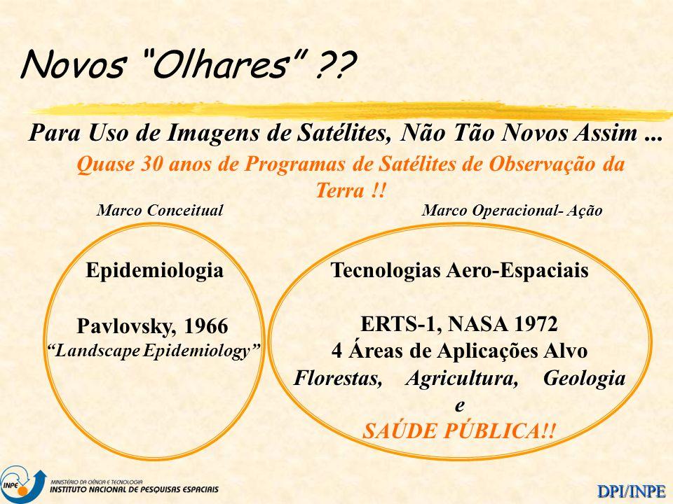 DPI/INPE Novos Olhares ?? Para Uso de Imagens de Satélites, Não Tão Novos Assim... Quase 30 anos de Programas de Satélites de Observação da Terra !! T