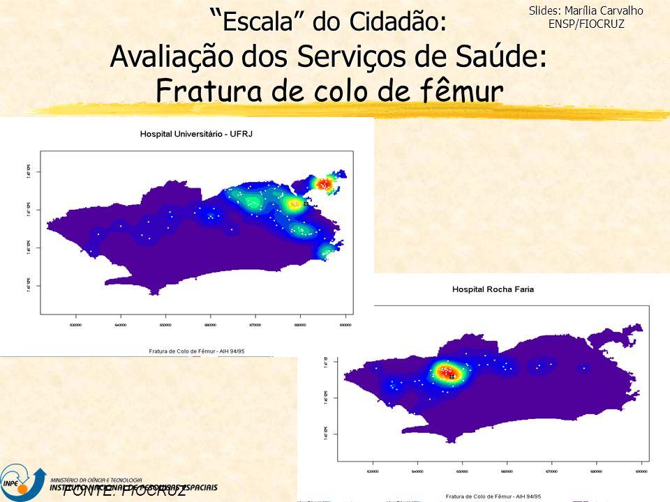DPI/INPE FONTE: FIOCRUZ Slides: Marília Carvalho ENSP/FIOCRUZ Escala do Cidadão: Avaliação dos Serviços de Saúde: Escala do Cidadão: Avaliação dos Ser