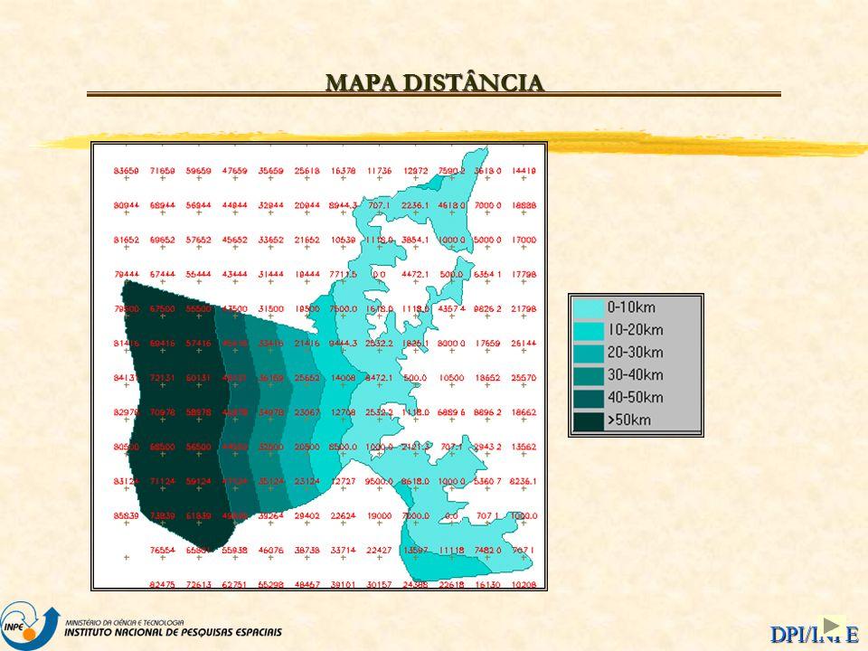DPI/INPE MAPA DISTÂNCIA