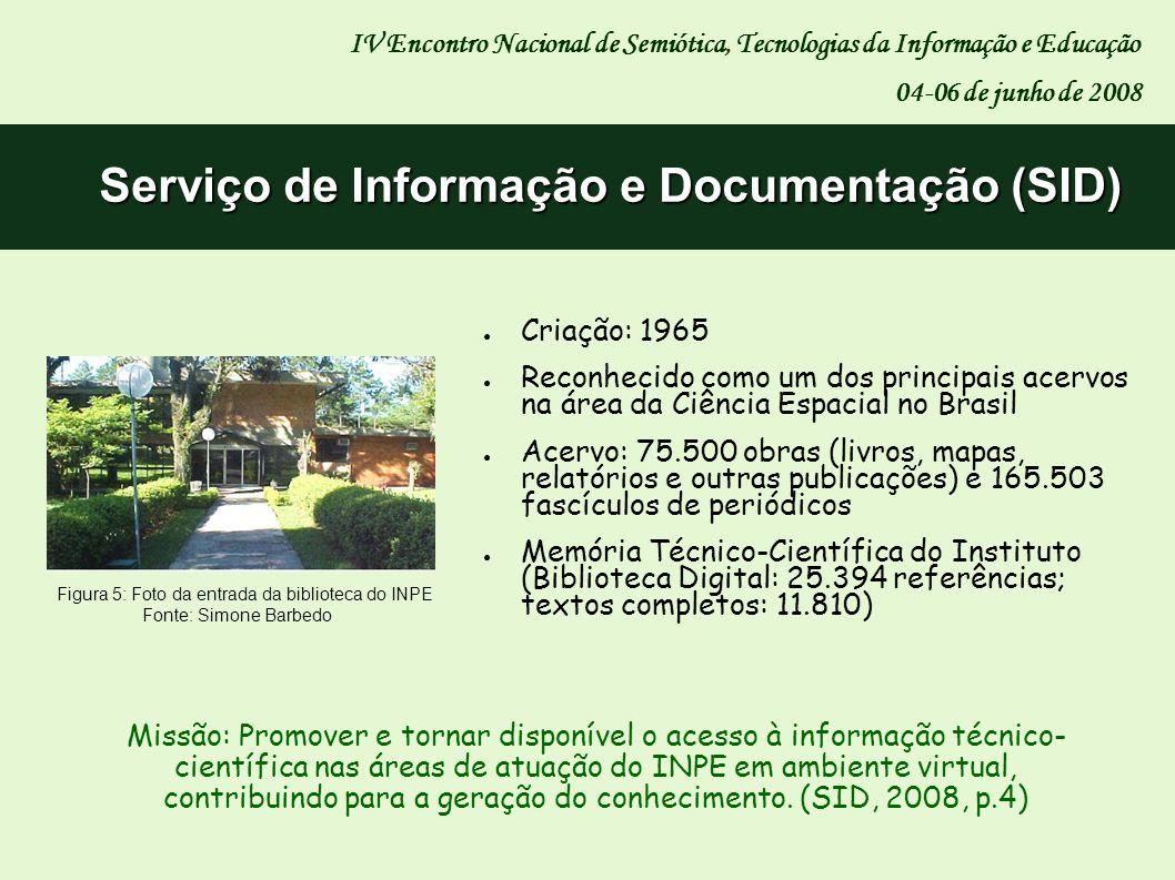 Criação: 1965 Reconhecido como um dos principais acervos na área da Ciência Espacial no Brasil Acervo: 75.500 obras (livros, mapas, relatórios e outra