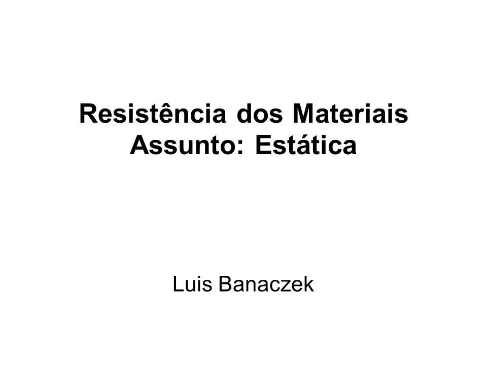 Resistência dos Materiais Assunto: Estática Luis Banaczek