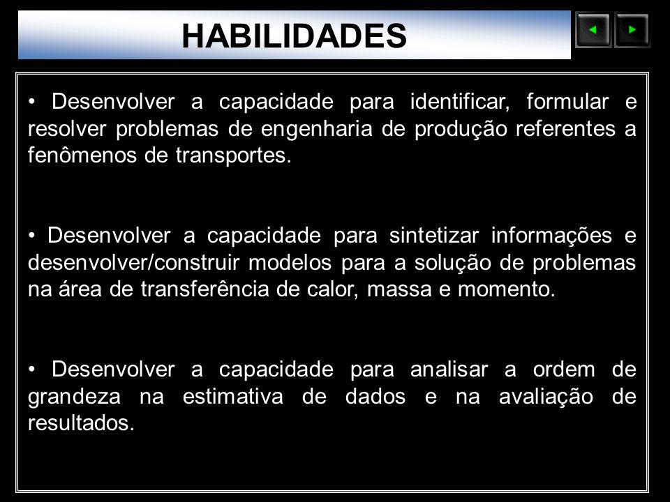 Sólidos Moleculares HABILIDADES Desenvolver a capacidade para identificar, formular e resolver problemas de engenharia de produção referentes a fenôme