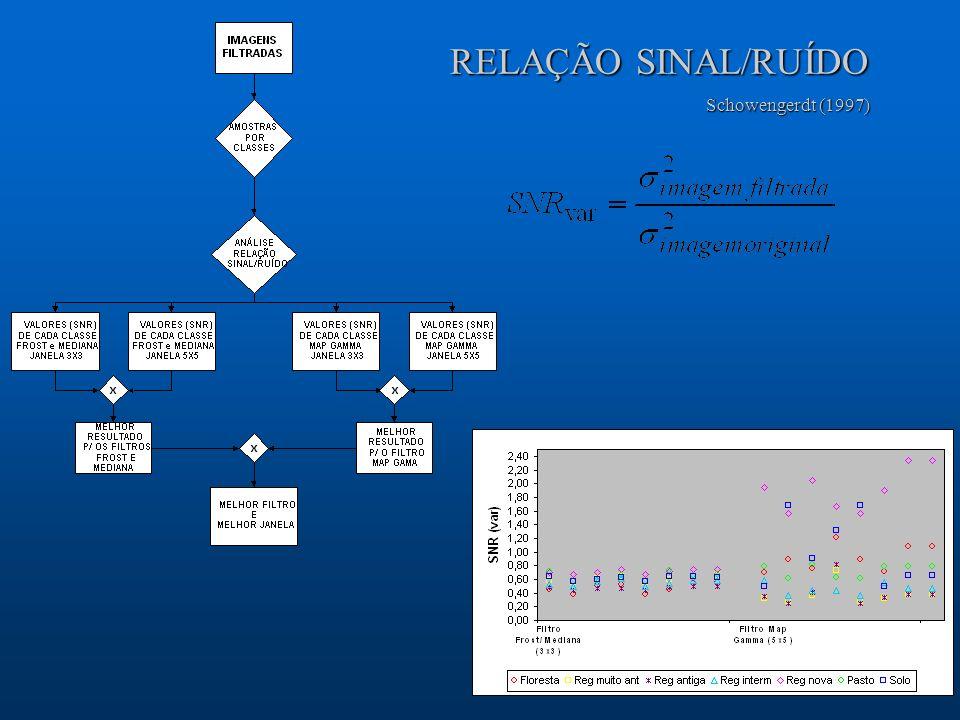 RELAÇÃO SINAL/RUÍDO Schowengerdt (1997)