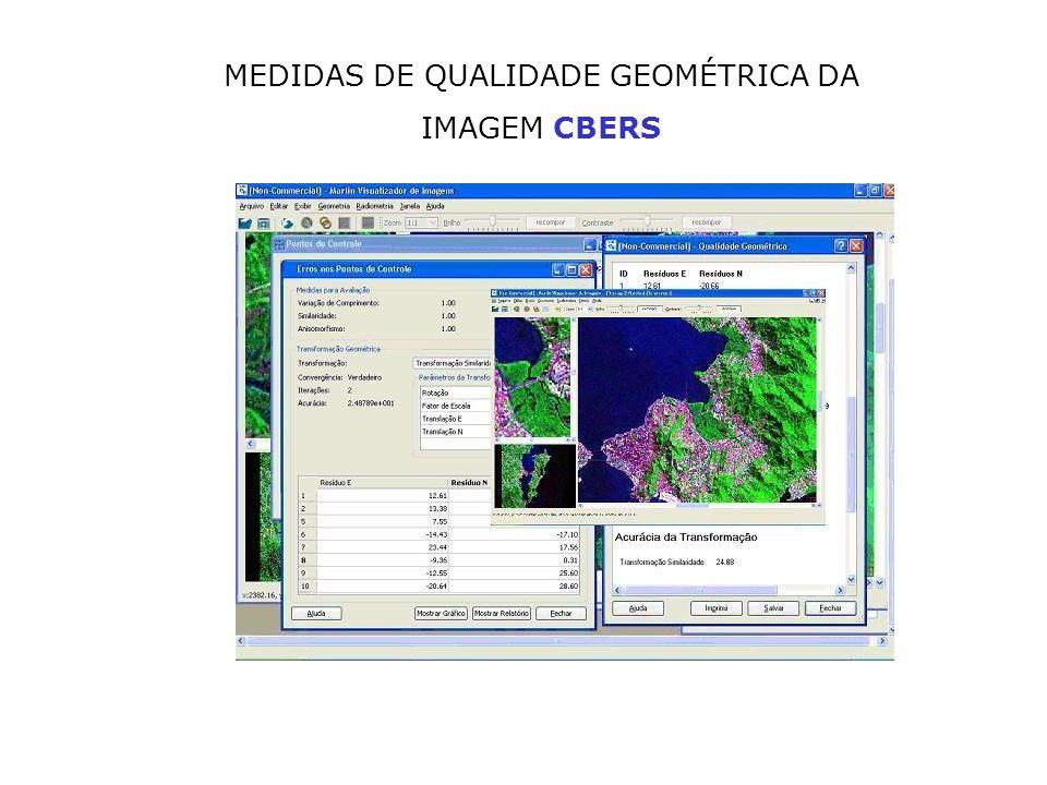 MEDIDAS DE QUALIDADE GEOMÉTRICA DA IMAGEM CBERS