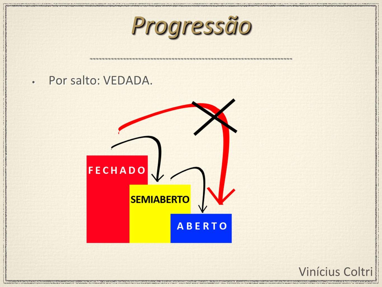 Vinícius Coltri Por salto: VEDADA. ProgressãoProgressão