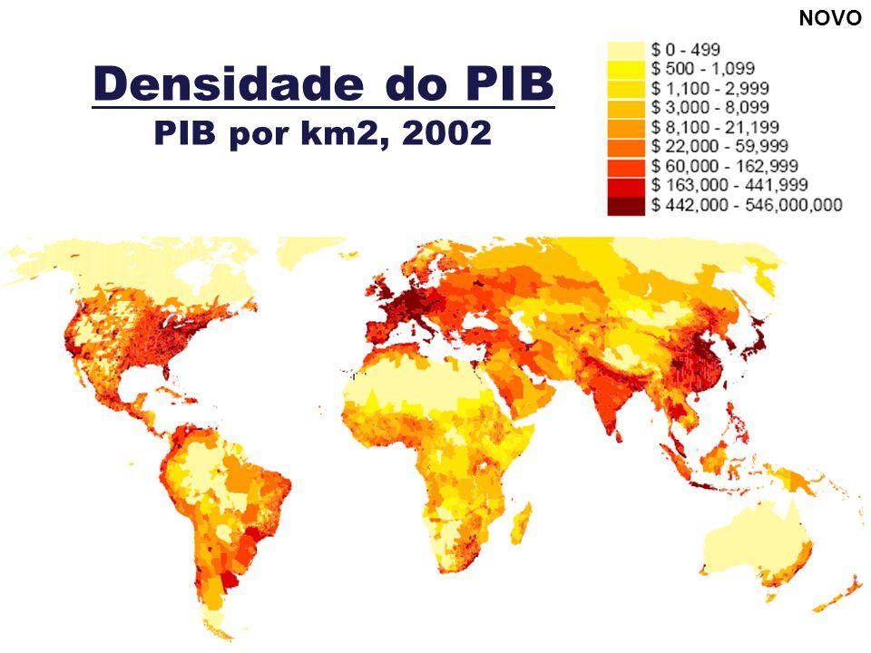 Densidade do PIB PIB por km2, 2002 NOVO