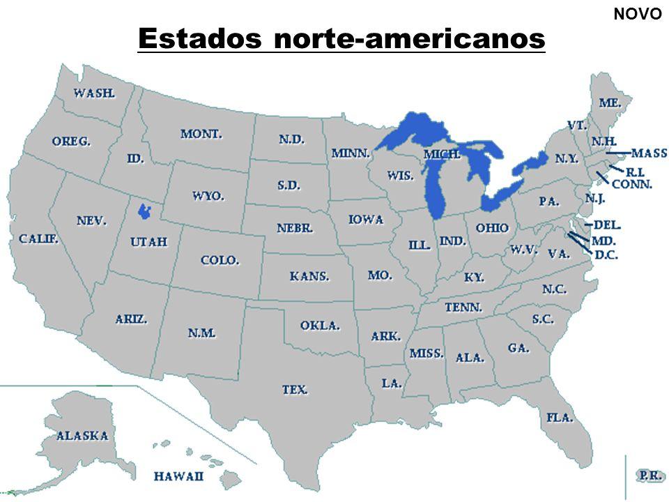 Estados norte-americanos NOVO