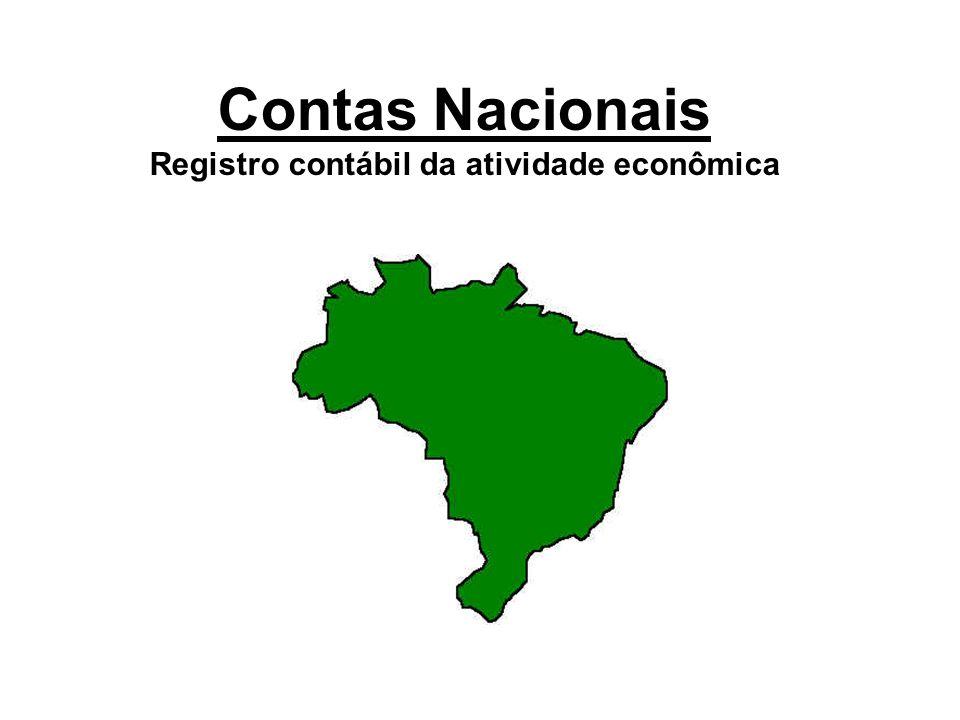 Contas Nacionais Registro contábil da atividade econômica