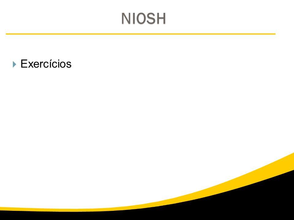 NIOSH Exercícios