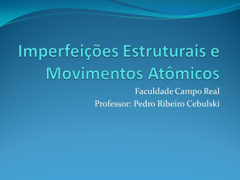 Faculdade Campo Real Professor: Pedro Ribeiro Cebulski