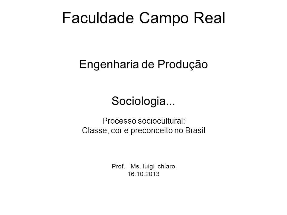 Faculdade Campo Real Engenharia de Produção Sociologia...