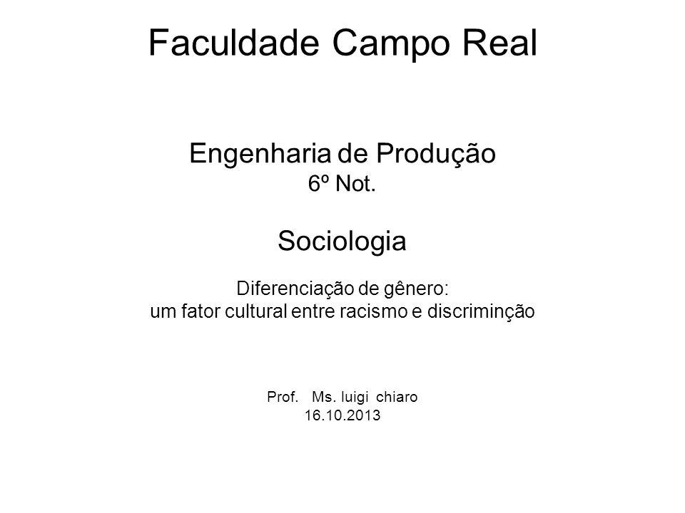 Faculdade Campo Real Engenharia de Produção 6º Not.