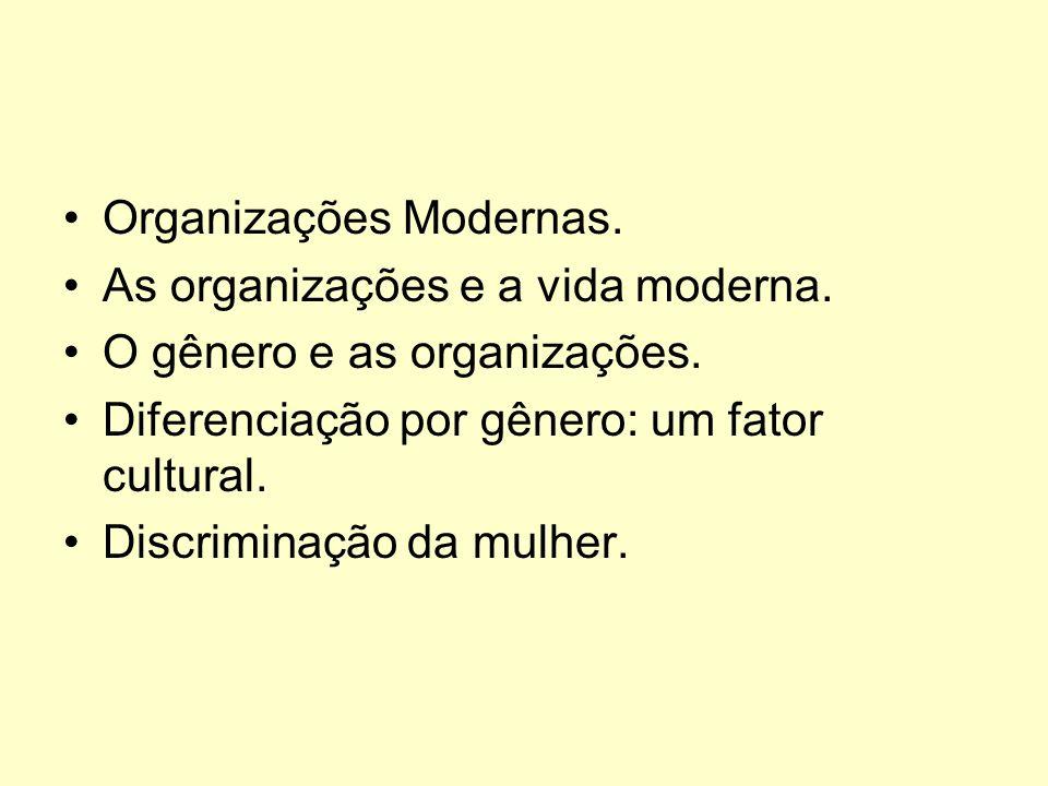 Organizações Modernas.As organizações e a vida moderna.