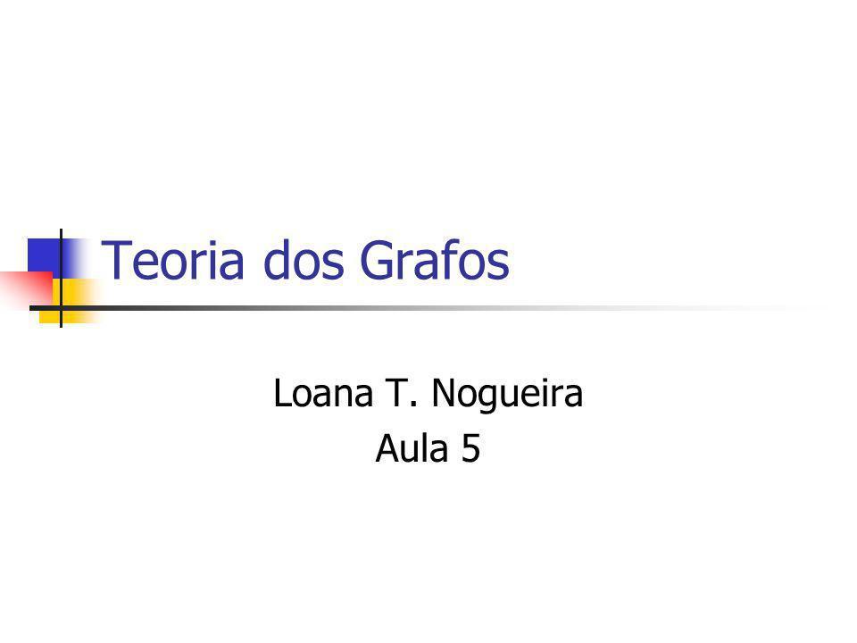 Teoria dos Grafos Loana T. Nogueira Aula 5