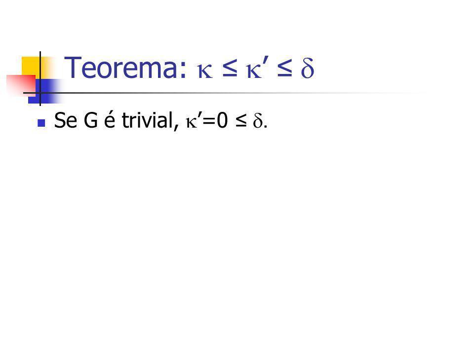 Se G é trivial, =0.