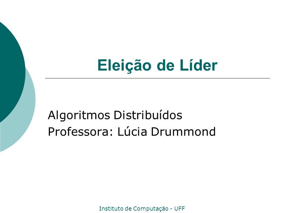 Instituto de Computação - UFF 2 Eleição de Líder Um Líder é um membro em N que todos reconhecem como diferente para executar alguma tarefa especial.