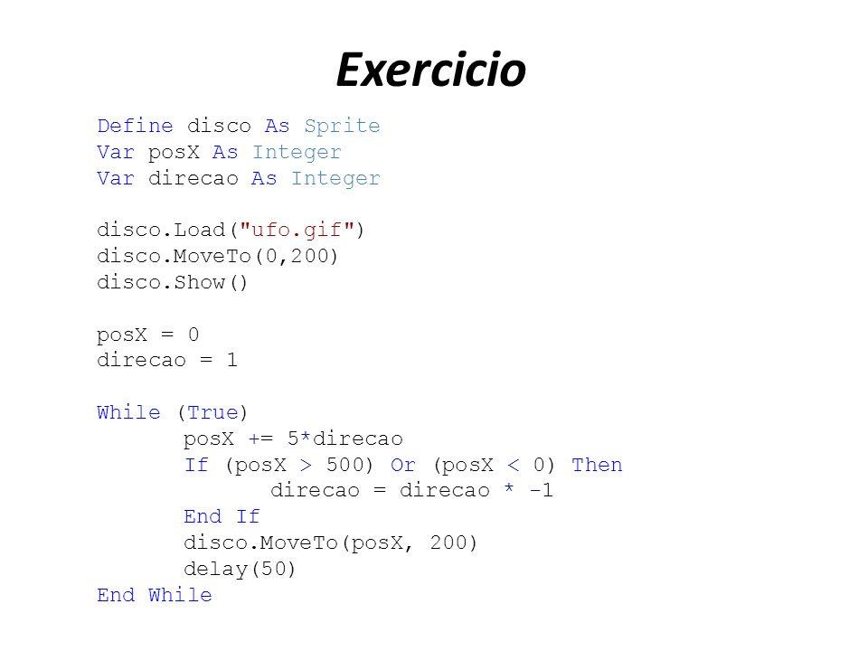 Exemplo Define Meu_Vetor As Integer [4] Meu_Vetor[1] = 0 Meu_Vetor[4] = 40 Meu_Vetor[2] = 20