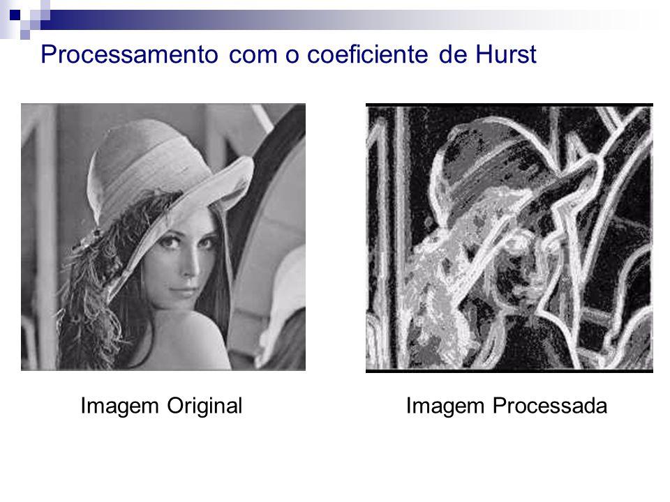 Processamento com o coeficiente de Hurst Imagem OriginalImagem Processada