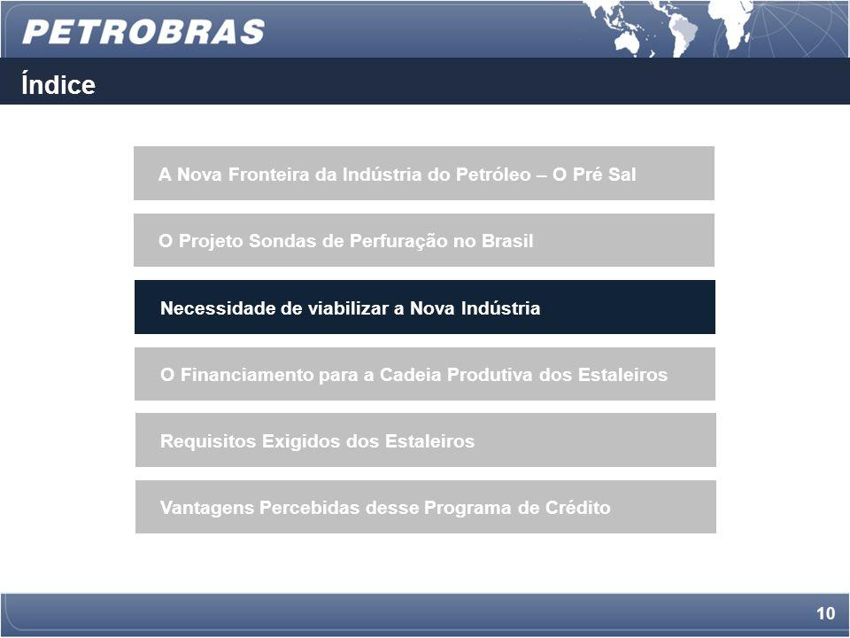 9 Aumento da Competitividade dos Fornecedores Brasileiros importação Demanda AtualDemanda Futura 1.