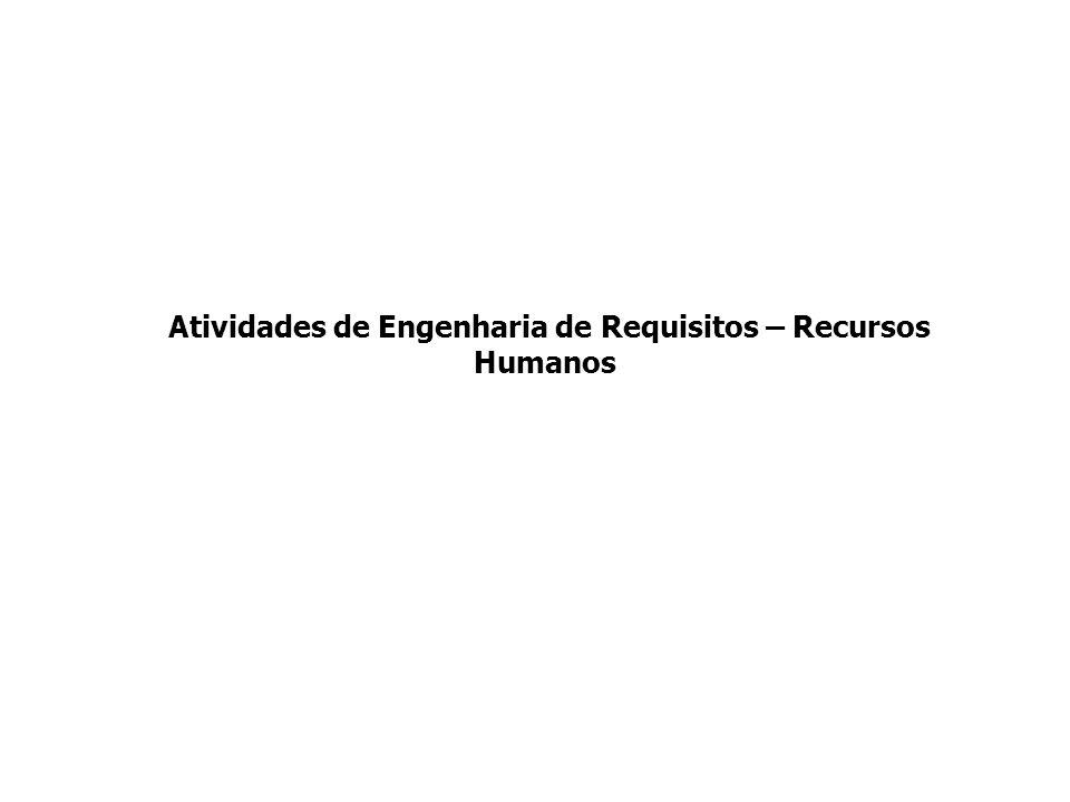 Atividades de Engenharia de Requisitos – Recursos Humanos