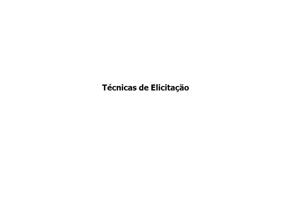 Técnicas de Elicitação