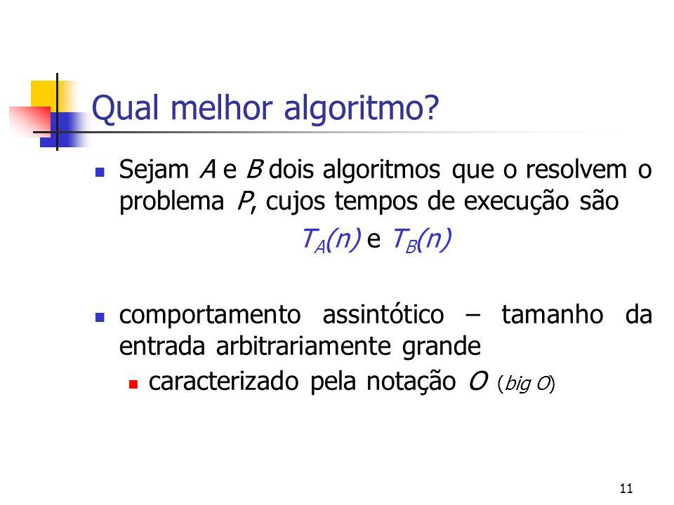 11 Qual melhor algoritmo.