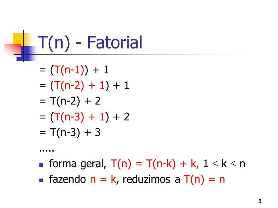 19 A notação Para a inversão efetua sempre n/2 passos então sua complexidade é (n) Para a soma e o produto de matrizes n x n verifica-se complexidades (n 2 ) e (n 3 ) respectivamente
