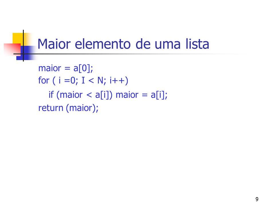 40 Busca Binária Complexidade: suponha que n = 2 k 1 o passo: uma lista de n elementos 2 o passo: uma lista de n/2 elementos 3 o passo: uma lista de n/4 elementos..........