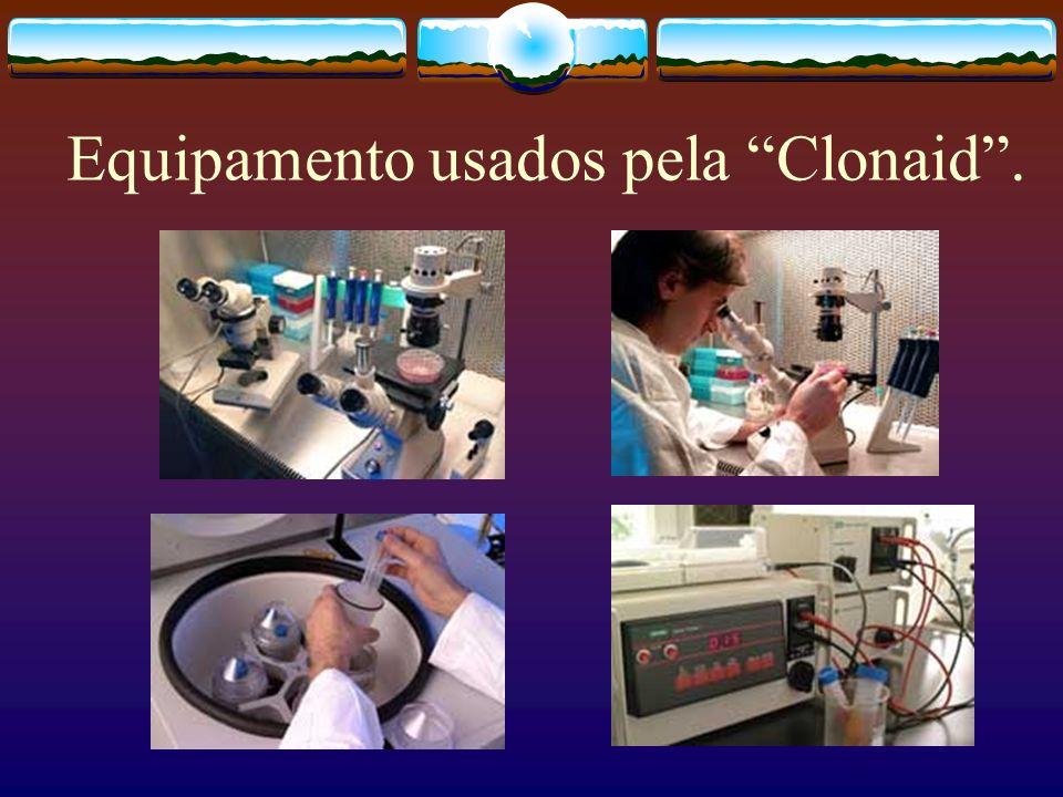 Equipamento usados pela Clonaid.